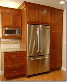 How To Build In Your Fridge With A Cabinet On Top | Google, Kitchens ...