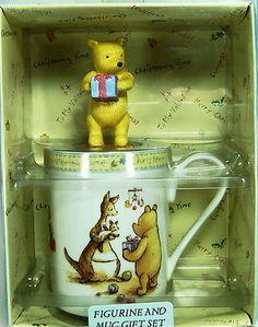 Royal Doulton Figurine and Mug Set Classic Pooh Christening Time 3 5/8 Inch Mug