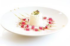 Rose Scented Yoghurt Jelly with Pomegranate Jewels from The British Larder blog