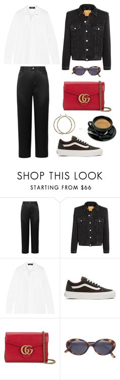 """""""kit"""" by naddde ❤ liked on Polyvore featuring Opening Ceremony, Balenciaga, Theory, Vans, Gucci and Oliver Peoples"""