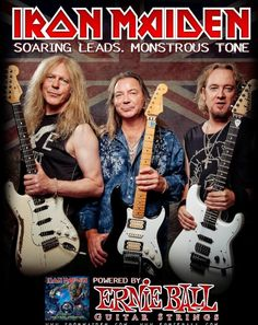 Dave Murray and Adrian Smith! Iron Maiden.  The guy on the left, I wish he would retire. He gets in the way anyway. I love Maiden so I put up with him.