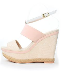 Strappy Fabric Wedge Sandals /PS3290  $79.90USD