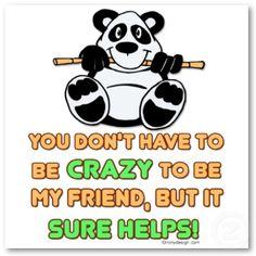 please be crazy