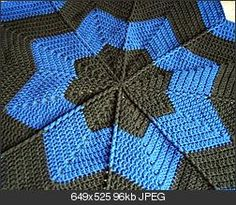 Star blanket pattern - Crochet