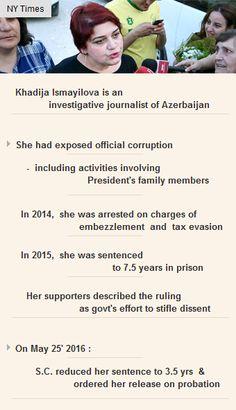 Investigative #journalist #KhadijaIsmayilova, who exposed corruption, freed in #Azerbaijan http://arzillion.com/S/rw4Ddv