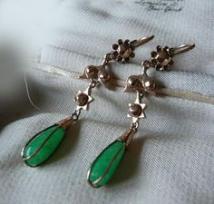Green Chalcedony Earrings - £150