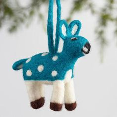 One of my favorite discoveries at WorldMarket.com: Felt Spotted Deer Ornaments Set of 4