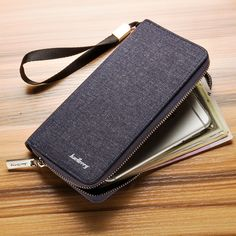 2017 Quality PU Leather Men credit card Wallets New Man Phone Wallet Zipper Men Purse Fashion Male Long Wallet Man's Clutch Bags