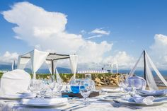Beautiful at Velas Vallarta Pacific Blue, Pacific Ocean, Puerto Vallarta, Mountain Range, Honeymoon Destinations, Table Decorations, Beach, Frame, Wedding