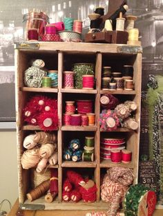 Vintage Soda Crate Storage-Wouldn't this be fabulous using Glitterfarm crates? Great retail display!