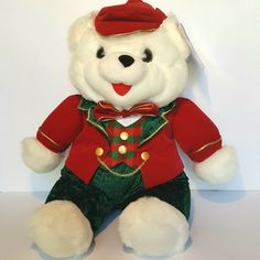 DanDee Christmas Teddy Bear White with Christmas Outfit 20 inches Soft Koala Teddy Bear, White Teddy Bear, Christmas Teddy Bear, Christmas Animals, Christmas Pets, Plush Dolls, Doll Toys, Pet Toys, Misfit Toys