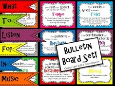 What to Listen for in Music Bulletin Board Set.  ***50% off 3/20 & 3/31***