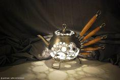 Upcycled Tea Pot Light Lamps & Lights Metals