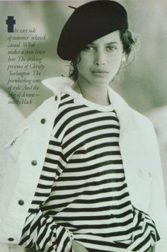 US Vogue April 1988 free spirit, summer style Model: Christy Turlington Ph: Patrick Demarchelier Hair: Sam McKnight Makeup: Mary Greenwell Stylist: No credit 80s Fashion, Trendy Fashion, Vintage Fashion, High Fashion, British Fashion, Curvy Fashion, Timeless Fashion, Fall Fashion, Style Fashion