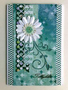 Card - handmade - BoBunny - Enchanted Garden paper design - Kort - Karte - JKE