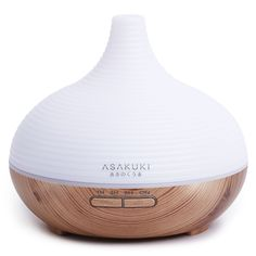 ASAKUKI Premium Essential Oil Diffuser Quiet Humidifier Natural Home Fragrance Diffuser with 7 LED Color Changing Light and Easy to Clean by ASAKUKI * Learn more by visiting the image link. (This is an affiliate link)