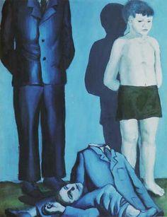 File:Rozstrzelanie V - execution V - Wróblewski. Dorothea Tanning, Lesbian Art, Stream Of Consciousness, Unusual Art, Contemporary Paintings, Figurative Art, New Art, Arsenal, Surrealism