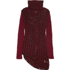 Helmut Lang Chunky open-knit wool-blend sweater