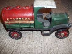 Antique cast iron oil truck