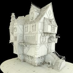 Tavern by german zamorano, via Behance Behance.net is an architectural site for showing design concepts and mock ups or just for fun, like this one ... other photos show closeups of areas ...