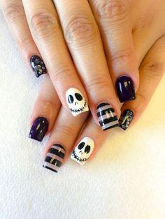 Dark and Creepy Halloween Nail Art