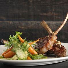 COLORADO LAMB CHOPS Zucchini, Carrots, Baby Leeks, Savory Anchovy Vinaigrette