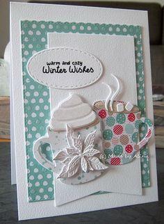 Made by Alina 3 x Merry Christmas! Homemade Christmas Cards, Christmas Cards To Make, Christmas Mugs, Xmas Cards, Homemade Cards, Holiday Cards, Merry Christmas, Beautiful Christmas Cards, Coffee Cards