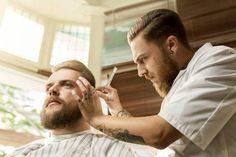 The Art of Barber Shops: alxbngala: (via Schorem Haarsnijder & Barbier) Tony Barber, Village Barber, Rockabilly, Beard Barber, Shaved Hair Cuts, Handsome Bearded Men, Master Barber, Beard Haircut, Great Beards