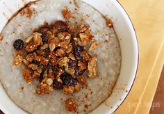 Cinnamon Apple Spiced Oatmeal  #oatmeal #cinnamon apple #breakfast