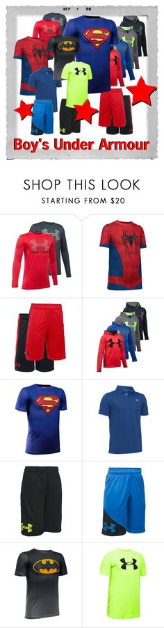 """""""New Boy's Under Armour Tennis Gear"""" by tennisexpress ❤ liked on Polyvore featuring Polaroid, tennis, athleticwear, tennisfashion and TennisExpress"""