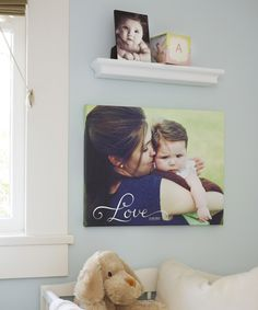 Perfect for baby's nursery. Show off your cutest pictures with canvas prints and desktop plaques from Shutterfly.