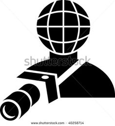 illustration of a sign or symbol of a global photographer holding a camera #photographer #icon #illustration