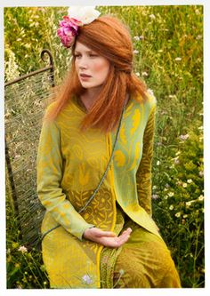 """""""Kaprifol"""" eco-cotton cardigan – Trailing flowers – GUDRUN SJÖDÉN – Webshop, mail order and boutiques 