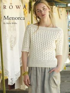 Minorca - free crochet pattern. Love the boat neck styling.