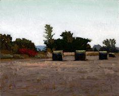 South Dakota Hay, 8 x 10 inches, oil on panel. Marc Bohne
