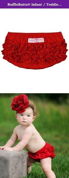 RuffleButts® Infant / Toddler Girls Ruffled Woven Bloomer - Red - 18-24m. The original, traditional, Ruffled bloomer, this is a must-have staple for every precious princess! With a 100% cotton body and RuffleButts' exclusive Anti-wrinkle ruffles, this sweet bloomer is nothing but the best for your baby girl.