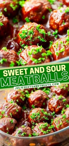 This New Year party appetizer is what you need when you are serving a crowd! This recipe makes 24 tender, juicy, homemade meatballs that are smothered in a delicious, smokey sweet and sour sauce. Plus, they are freezer-friendly! Perfect for easy holiday entertaining! Home Recipes, Asian Recipes, Cooking Recipes, Ethnic Recipes, Appetizers For Party, Appetizer Recipes, Sweet And Sour Meatballs, Asian Foods, A Food
