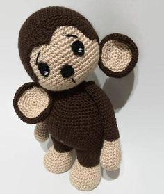 Crochet Pattern Cute Monkey Amigurumi Pdf - This is a cute monkey crochet amigurumi pattern - pdf file . Supplies: The pattern uses hook and Microfiber Acrylic yarn. Copyright © 2016 All patterns are protected by Free Monkey, Toy Monkey, Crochet Monkey Pattern, Crochet Patterns Amigurumi, Diy Crochet, Crochet Toys, Cute Stuffed Animals, Bear Toy, Beautiful Crochet