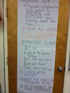 "A guide to ''purposeful talk"""