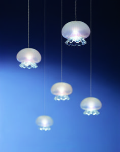 Our designer Pepe Tanzi is often inspired by nature. Take a look at our Medusina (Jelly fish) lighting fixture in handshaped blown glass. Made in Italy. www.album.it