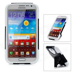 Quantity: 1 Piece; Color: Black + White; Material: Silicone + Plastic; Compatible Models: Samsung Galaxy Note II N7100; Other Features: Protects your cell phone from scratch, dust and shock; Packing List: 1 x Protective case; http://j.mp/1ljHtN8