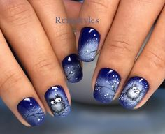 Nails 2018 40 Pic Easy & Simple Gel Nail Art 2018 - style you 7 40 Pic Easy & Simple Gel Nail Art 2018 - style you 7 Owl Nail Art, Owl Nails, Xmas Nails, Holiday Nails, Christmas Nails, Minion Nails, Halloween Nails, Winter Christmas, Winter Nail Art