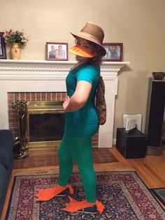 """Super easy DIY (almost) no-sew Disney's Perry the Platypus costume! Made it myself for cheer team spirit day """"Disney Day"""""""