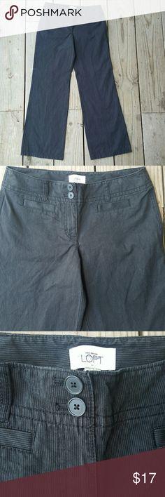 Ann Taylor LOFT pants NWOT Pinstripe, cotton,  size 4, NWOT LOFT Pants Wide Leg