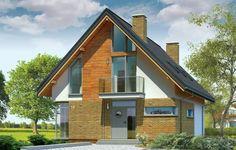 Projekt Miejski to dom dla cztero-pięcioosobowej rodziny, o prostej, łatwej w budowie bryle. Parterowy budynek z poddaszem użytkowym, przykryty dwuspadowym dachem. Tradycyjną bryłę domu połączono z nowoczesną stylistyką, materiałami i detalem, dzięki czemu udało się uzyskać bezpretensjonalną współczesną architekturę, pasującą do każdego otoczenia. Elewacje zostały urozmaicone ceglaną okładziną parteru, drewnianymi fragmentami ścian poddasza, oraz oryginalnie zaprojektowanymi oknami.