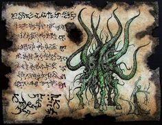 cthulhu larp Necronomicon Fragment Spawn of Shub Niggurath lovecraft monster art