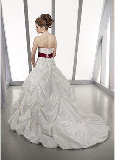 Cute Sweetheart Sleeve Sleeveless Natural Full Length A-line Chapel Wedding Dresses
