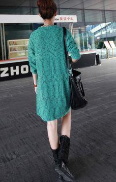 asymmetric shawl collar tunic sweaters, fashion printed green cardigan #shawl #collar #tunic #sweaters www.loveitsomuch.com