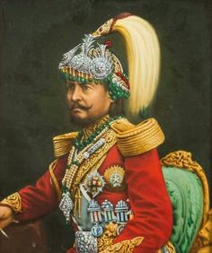 History; The picture above is of Jung Bahadur Rana. In the mid 1800's there were big problems between the royal family and the military. There were fights and the military beat the royal loyalists. Jung Bahadur Rana was a general in the military. Inspired by the European Governments, Jung Bahadur Rana, in 1846, made the Nepalese king have no power and made himself the first ever Nepalese prime minister.