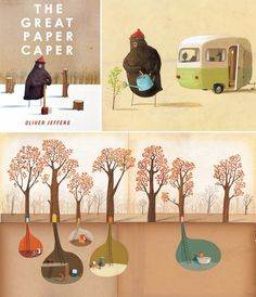 The Great Paper Caper, written and illustrated by Oliver Jeffers